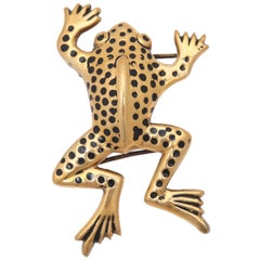 "Large ""Gold"" Frog Belt Buckle, Costume Jewelry"