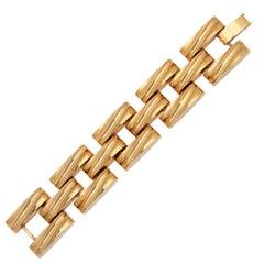"Chunky Link ""Gold"" Bracelet, Costume Jewelry"