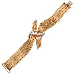 Diamond Gold Bow Knot Bracelet