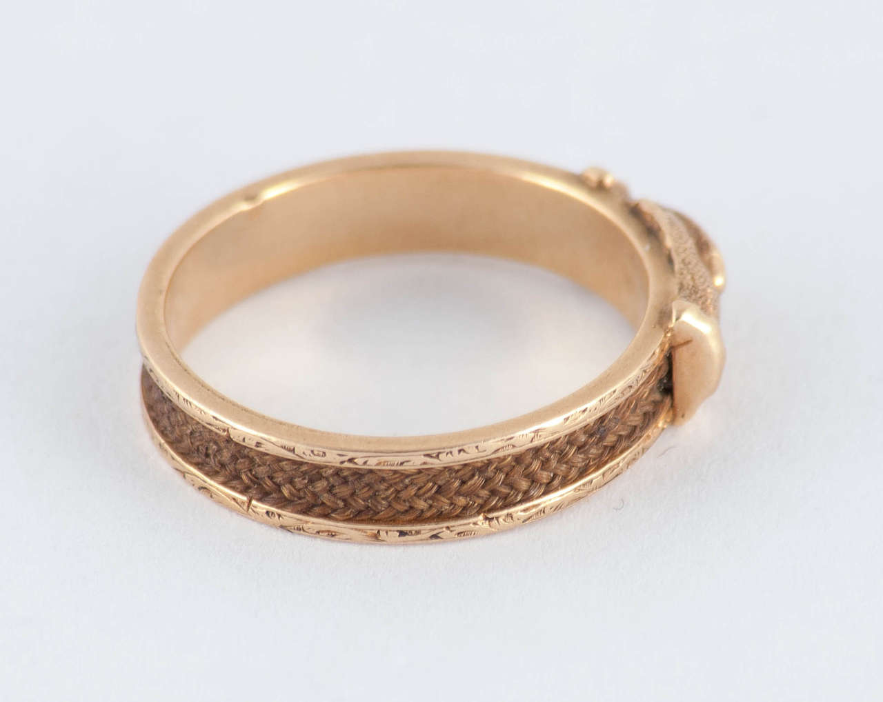 Antique Gold And Hair Fede Ring For Sale At 1stdibs