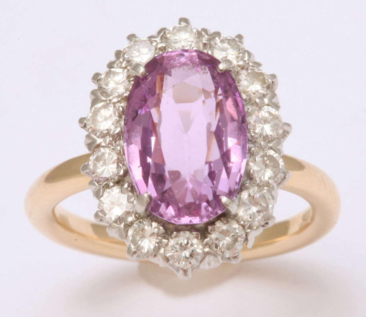 Pink Sapphire  Diamond Ring Tiffany & Co 2