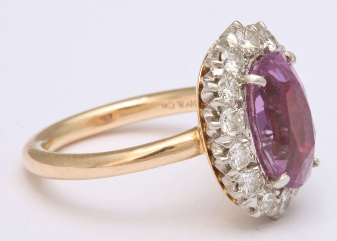 Pink Sapphire  Diamond Ring Tiffany & Co 3