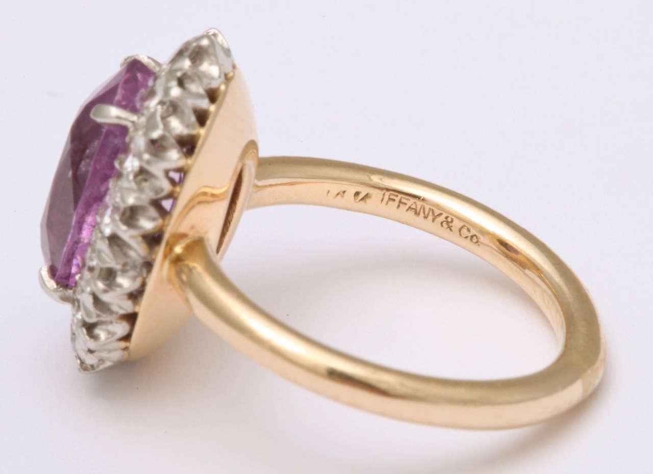 Pink Sapphire  Diamond Ring Tiffany & Co 4