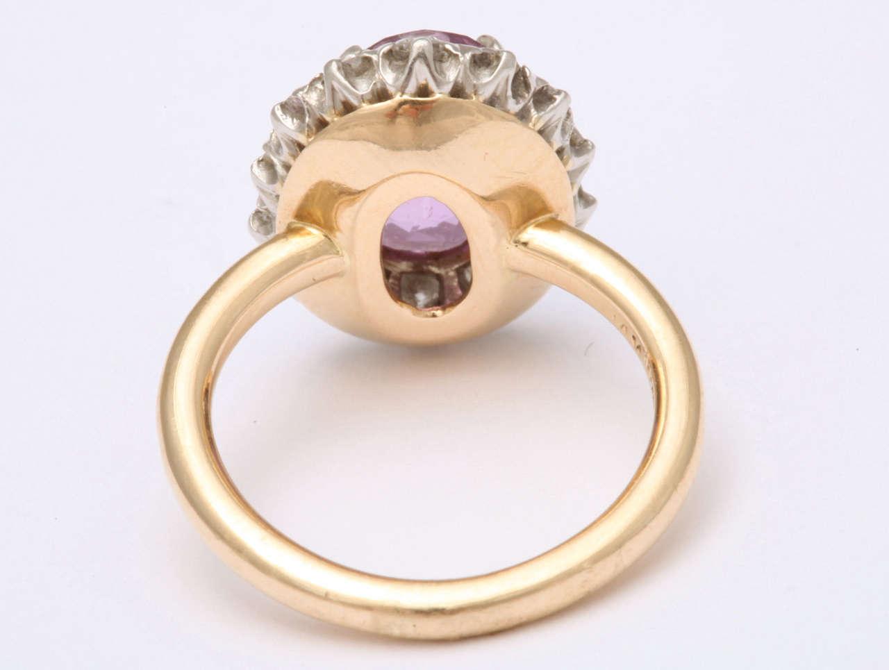 Pink Sapphire  Diamond Ring Tiffany & Co 5