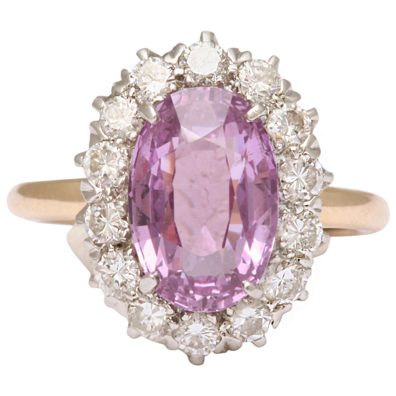 Pink Sapphire  Diamond Ring Tiffany & Co 1