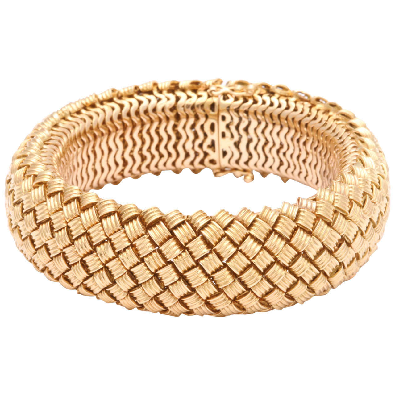 Flexible Gold Bracelet
