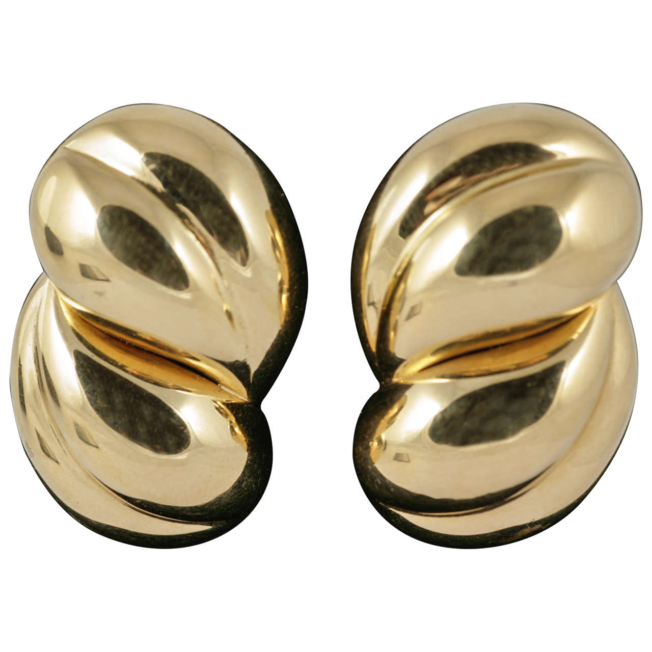 Pomellato Gold Clip On Earrings