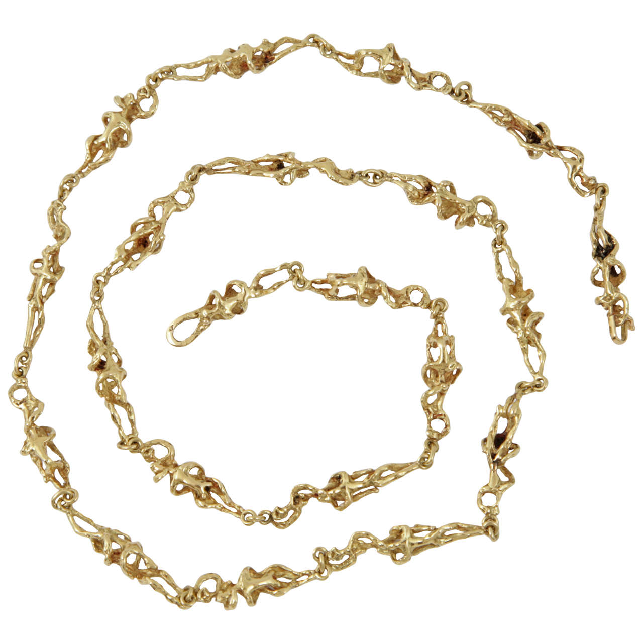 1970s Erotic French Gold Necklace