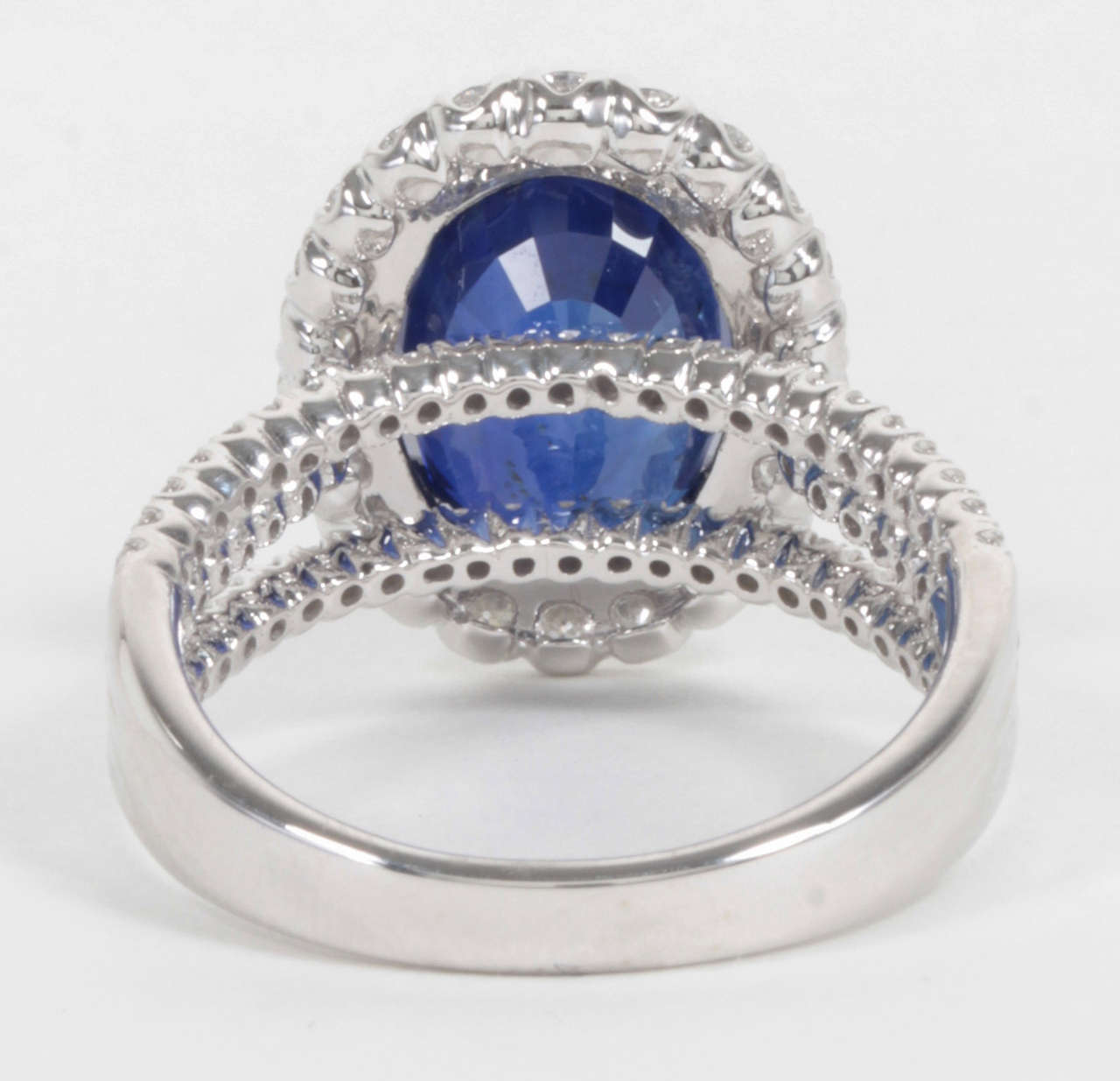 Certified Royal Blue Sapphire Diamond Ring For Sale At 1stdibs