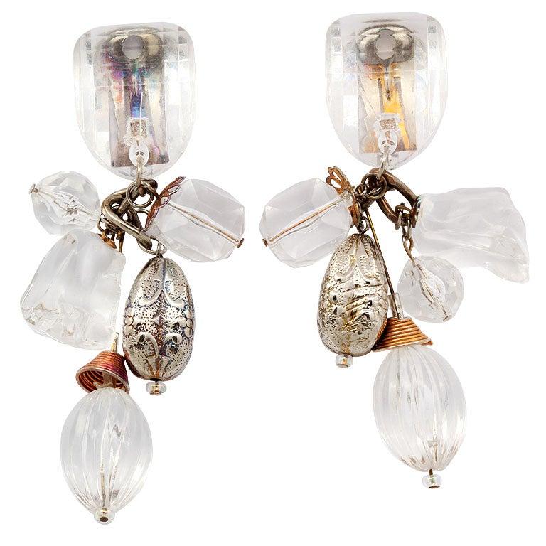 Lucite Dangle Earrings