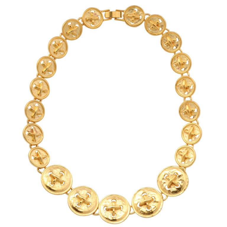 """""""Gold"""" Button Necklace"""
