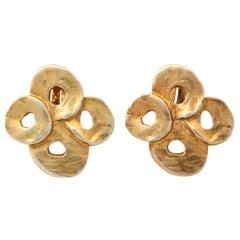 French Valerie Viloin Labbe Goldtone Earrings