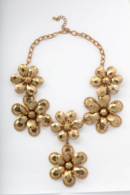 Goldtone Flower Power Necklace 2