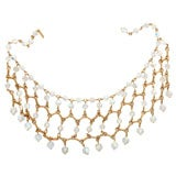 Austrian Crystal Bib Necklace