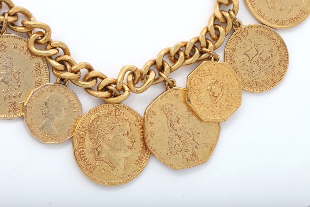 """Eight """"Gold"""" Coin Necklace 3"""