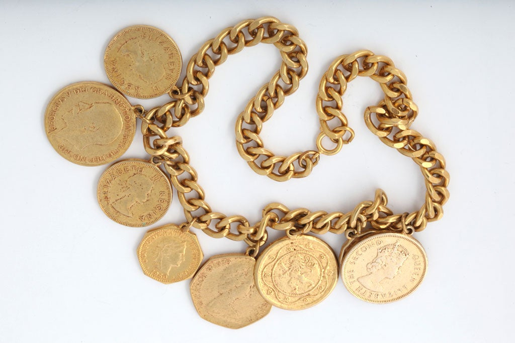 """Eight """"Gold"""" Coin Necklace 4"""
