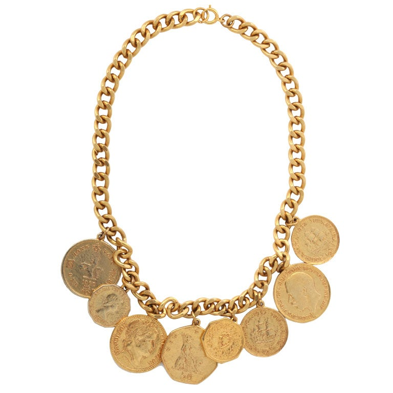 eight quot gold quot coin necklace at 1stdibs
