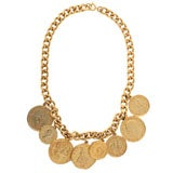 """Eight """"Gold"""" Coin Necklace"""