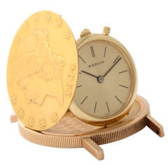 US $20 gold piece covered wrist watch