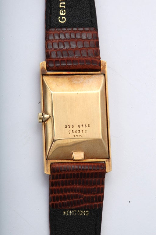 Refined Black Starr and Frost Gold Watch, 1970's 4