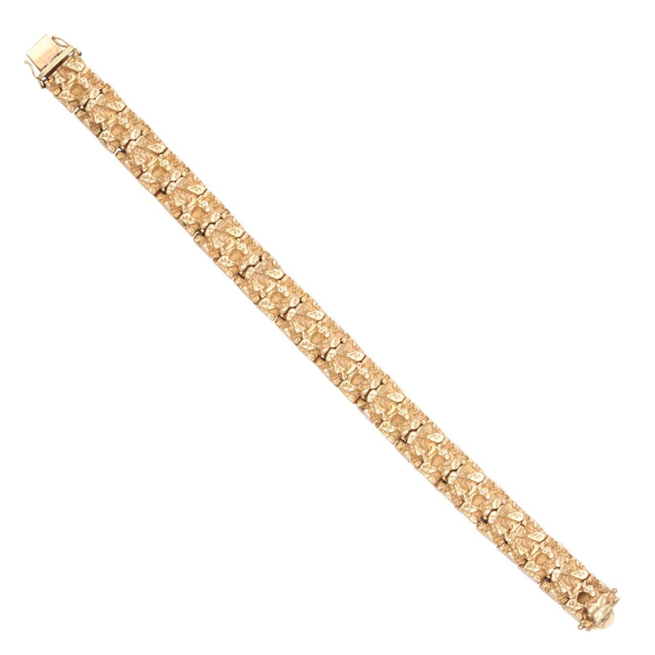 Segmented Nugget Link Bracelet