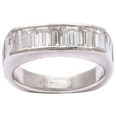 Platinum Shaped Diamond Band