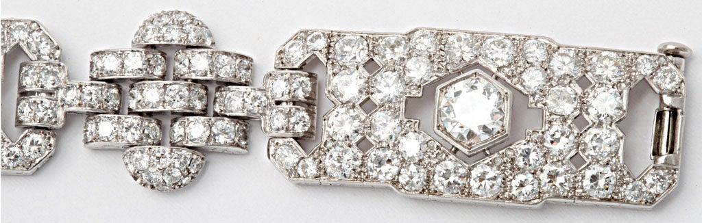GHISO Important Art Deco  Diamond Bracelet For Sale 1