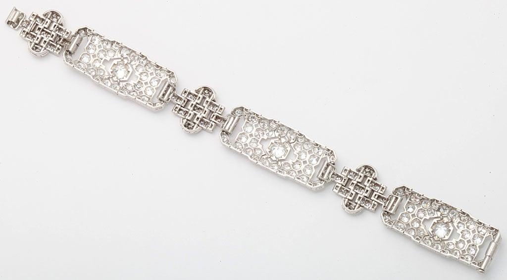 GHISO Important Art Deco  Diamond Bracelet For Sale 2