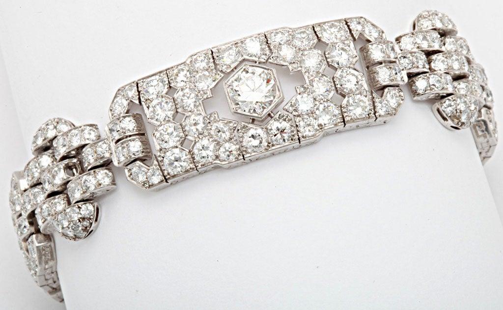 GHISO Important Art Deco  Diamond Bracelet For Sale 3