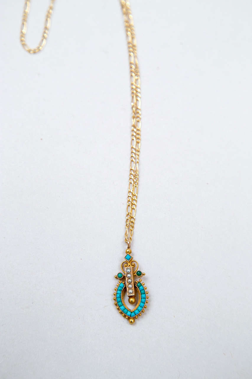 Victorian Egyptian Revival Pendant 4