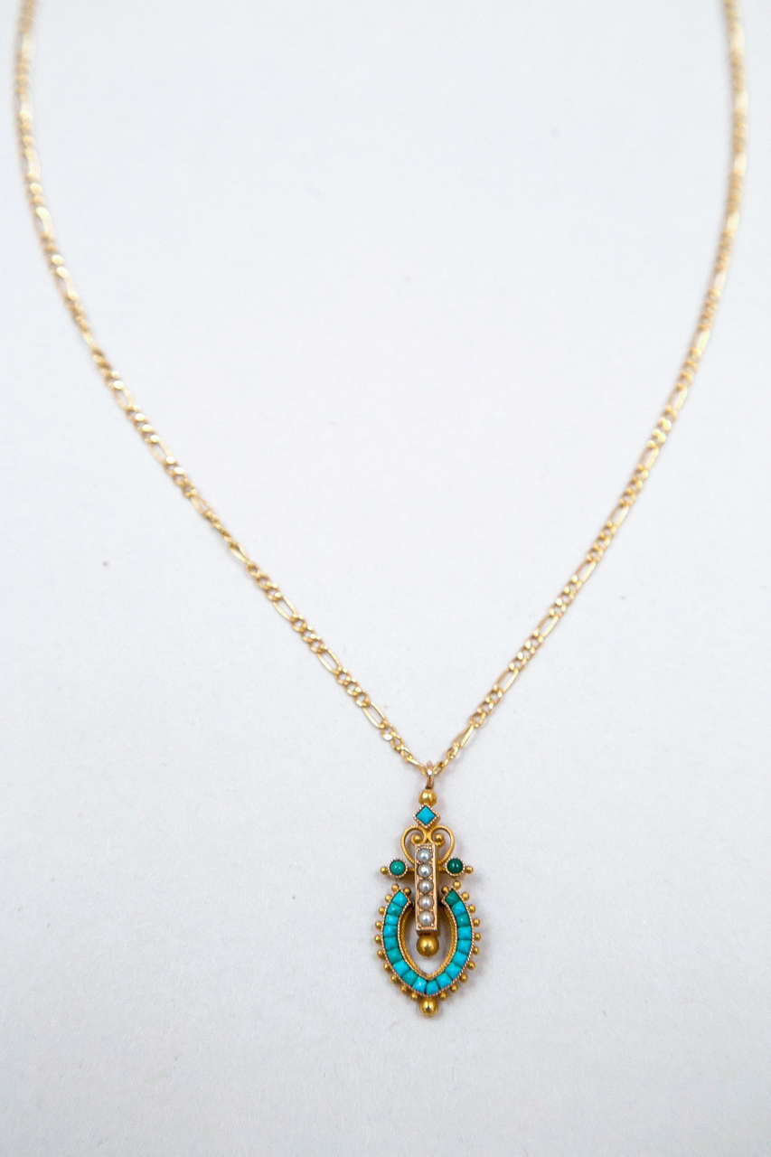 Victorian Egyptian Revival Pendant 5