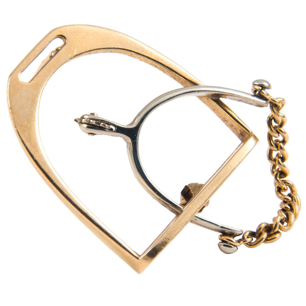 gold clip brooch