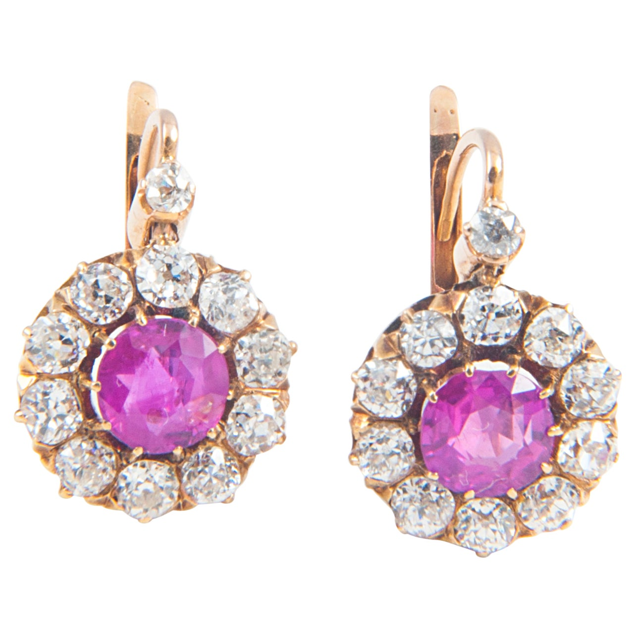 Pink Sapphire Earrings For Sale at 1stdibs