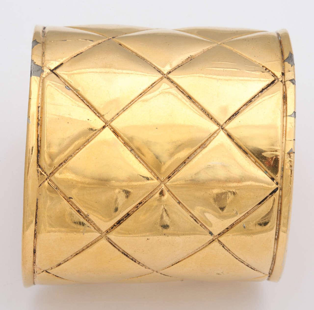 Chanel Quilted Bangle Bracelet 3