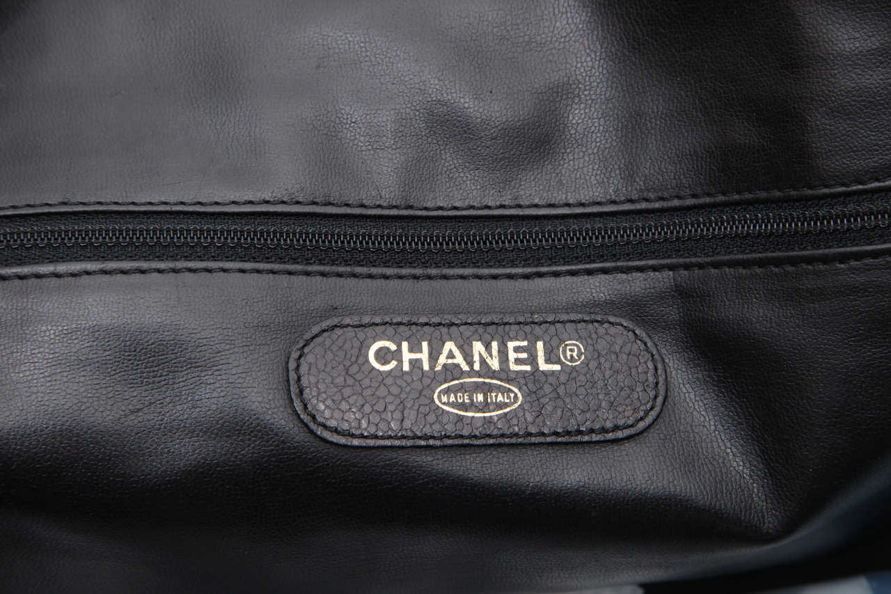 Chanel Caviar Skin Duffle Bag with CC 8