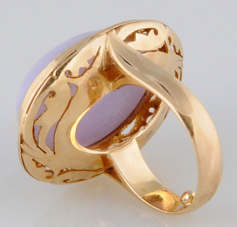 lavender jade gold ring at 1stdibs