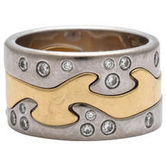Georg Jensen by Nina Koppel Diamond Gold Fusion Ring