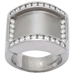 Charles Krypell Diamond Platinum Band Ring