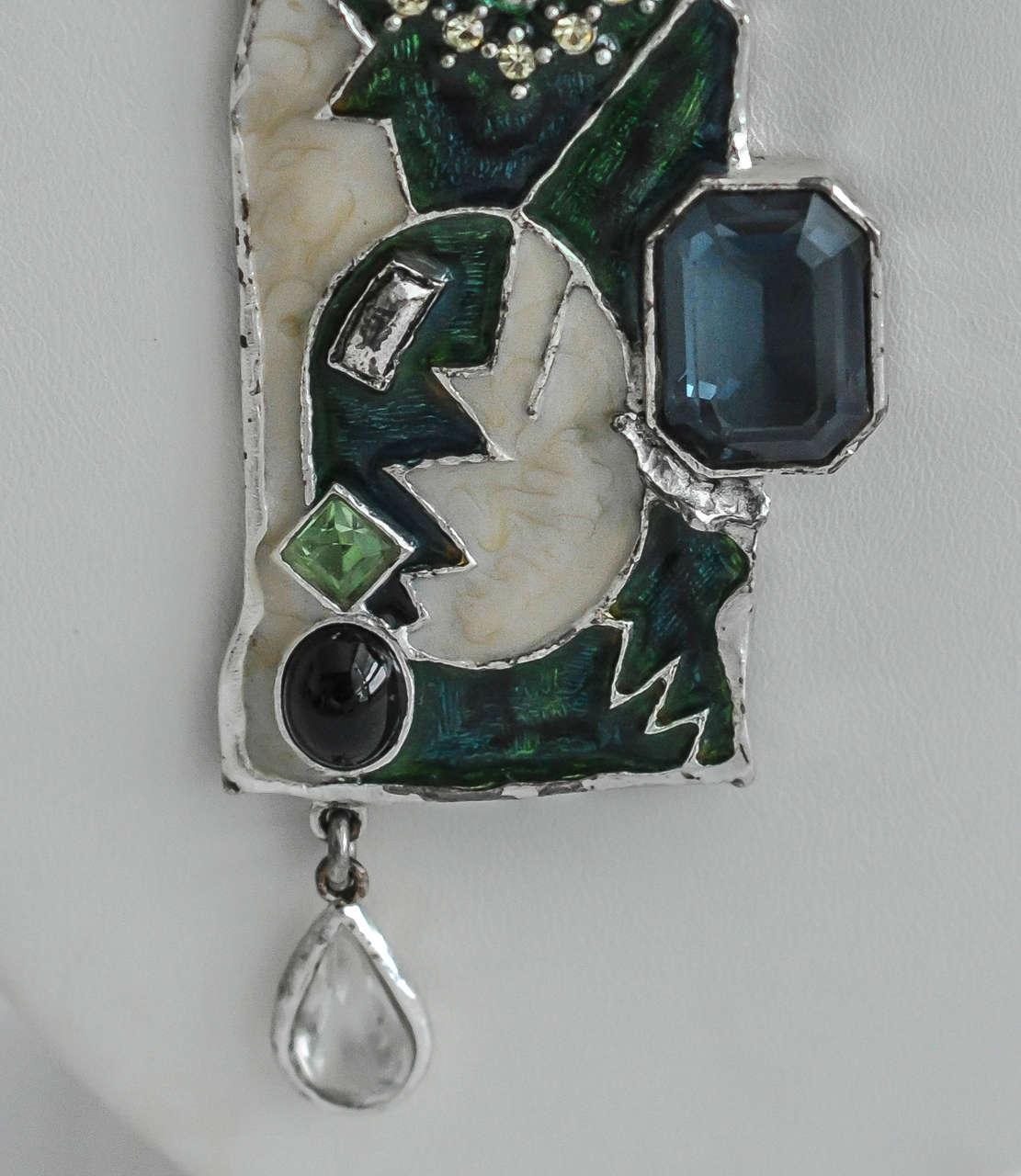 1990s Lacroix Modern Tribalist Necklace For Sale 1