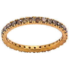 Brown Diamond Gold Eternity Band Ring