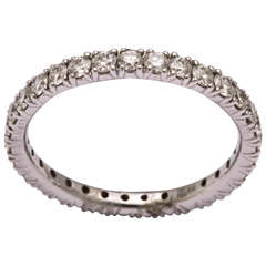 Classical Diamond Gold Eternity Band Ring