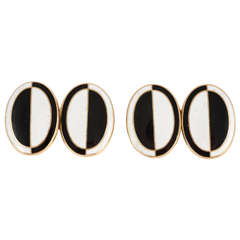 Enamel 18ct Gold Cufflinks