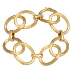 Elegant Brushed Gold Chain Link Bracelet