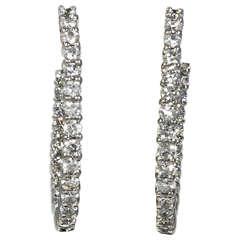Roberto Coin Diamond Gold Hoop Earrings