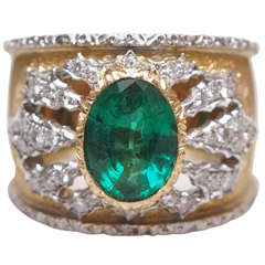 Mario Buccellati Emerald Ring