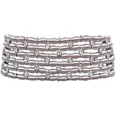 Jarretiere Flexible Diamond Gold Bracelet
