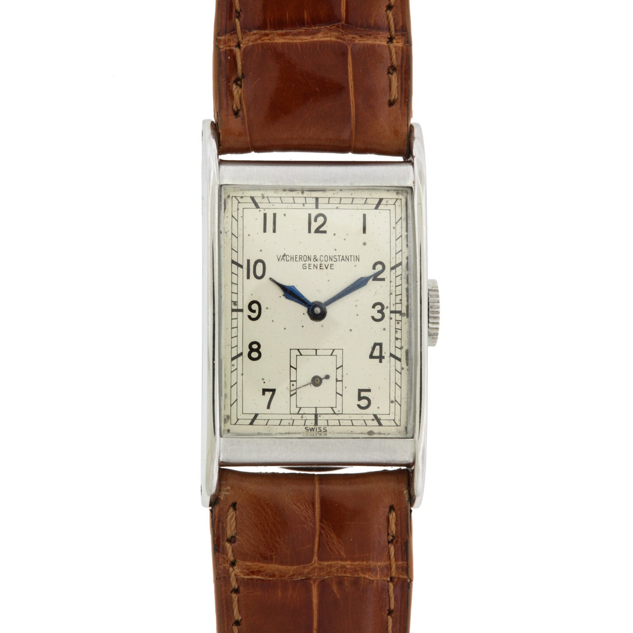 Vacheron And Constantin Stainless Steel Rectangular