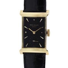 Patek Philippe Rare Yellow Gold Rectangular Wristwatch Ref 2404