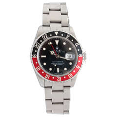 "Rolex Stainless Steel GMT-Master II ""Cherry Coke"" Wristwatch"