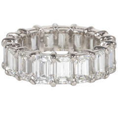 10 Carat Emerald Cut Eternity Band set in Platinum